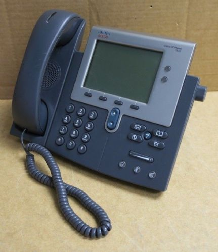 Cisco CP-7942G 7942G Unified IP VoIP Corded Phone W/ Handset + Stand 68-3430-01